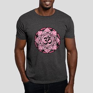 Aum Lotus Mandala (Pink) Dark T-Shirt