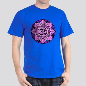 Aum Lotus Mandala (Purple) Dark T-Shirt