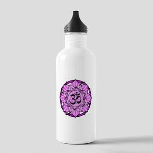Aum Lotus Mandala (Purple) Stainless Water Bottle