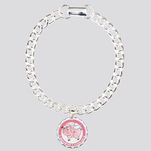 Flying Pig Charm Bracelet, One Charm