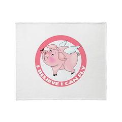 Flying Pig Throw Blanket