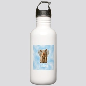 I Believe Flying Pig Stainless Water Bottle 1.0L