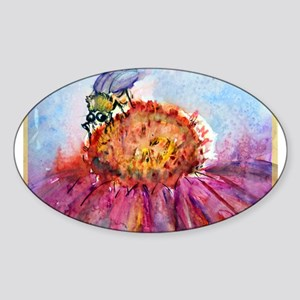 Bee, colorful, Sticker (Oval)