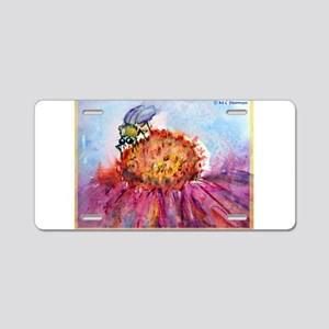 Bee, colorful, Aluminum License Plate