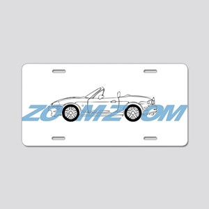 MIATA ZOOM ZOOM Aluminum License Plate