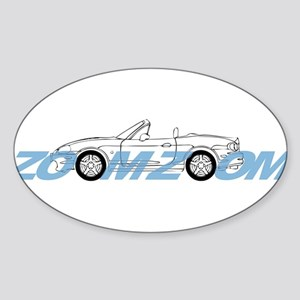MIATA ZOOM ZOOM Sticker (Oval)