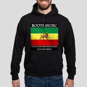 Roots Music Reggae Lion of Judah Flag Hoodie (dark