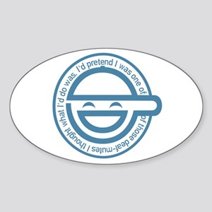The Laughing Man Sticker (Oval)