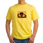manecoarse.com Yellow T-Shirt