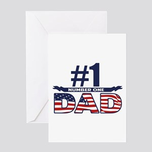 Number 1 DAD Greeting Card
