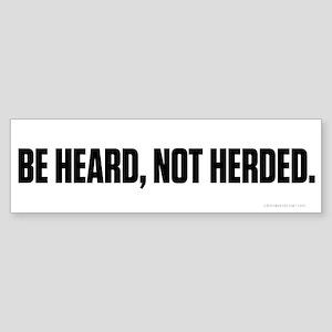 Heard Not Hearded Sticker (Bumper)