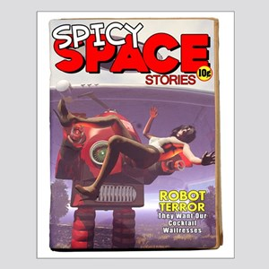 Spicy Space Stories Fake Pulp Small Poster