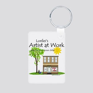 Artist at Work Shop Aluminum Photo Keychain