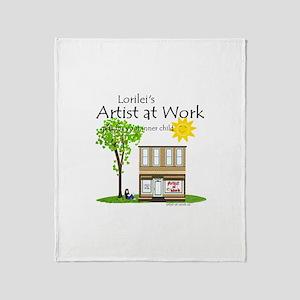 Artist at Work Shop Throw Blanket