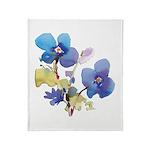 Watercolor Flowers Throw Blanket