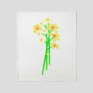 Little Daisy Bouquet Throw Blanket