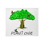 Plant A Tree Throw Blanket