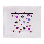 Hearts and Flowers Throw Blanket