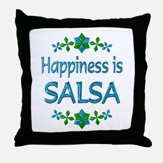 Happiness Salsa Throw Pillow
