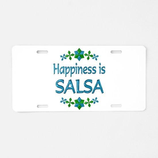 Happiness Salsa Aluminum License Plate