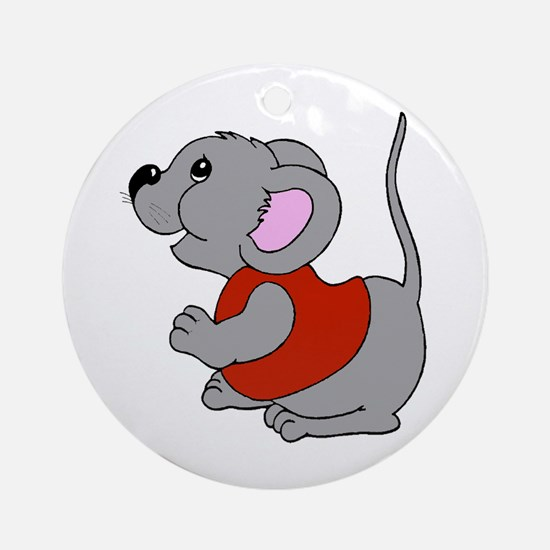 Baby Mouse Ornament (Round)