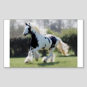 Gypsy Horse Mare Sticker (Rectangle)