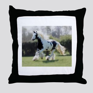 Gypsy Horse Mare Throw Pillow