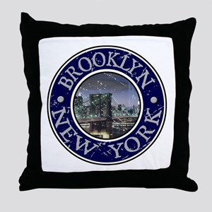 Brooklyn, New York Throw Pillow