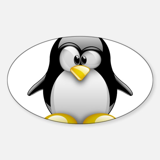 Tux Sticker (Oval)