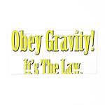 Gravity Aluminum License Plate