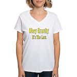 Gravity Women's V-Neck T-Shirt