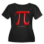 Pi Women's Plus Size Scoop Neck Dark T-Shirt