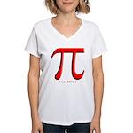 Pi Women's V-Neck T-Shirt