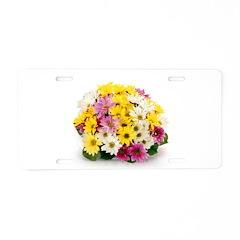 Bouquet of Flowers Aluminum License Plate