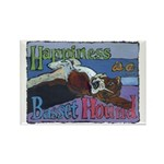 Happiness is a Basset Hound Rectangle Magnet