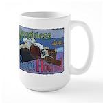 Happiness is a Basset Hound Large Mug