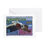 Happiness is a Basset Hound Greeting Card