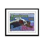 Happiness is a Basset Hound Framed Panel Print