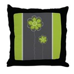 Trendy Floral Decor Throw Pillow