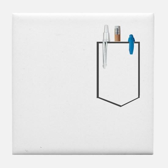 Cute Pocket images Tile Coaster