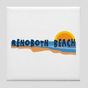 Rehoboth Beach DE - Beach Design Tile Coaster