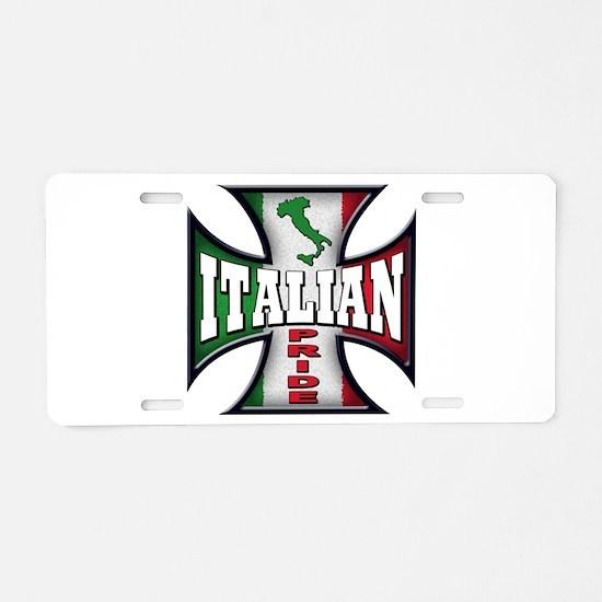 italian pride Aluminum License Plate