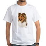 Rough Collie White T-Shirt