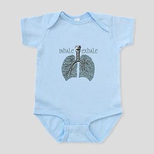 Anatomy of Breath in Blue Infant Bodysuit