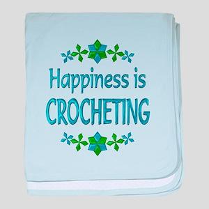 Happiness Crocheting baby blanket