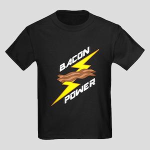 Bacon Power Kids Dark T-Shirt