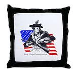 Illegals Throw Pillow