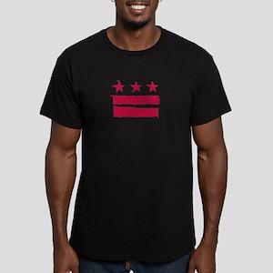 """True Grit"" DC Flag Men's Fitted T-Shirt (dark)"