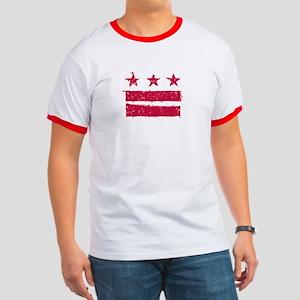 """""""True Grit"""" DC Flag Ringer T"""