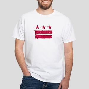 """""""True Grit"""" DC Flag White T-Shirt"""